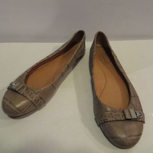 S  WOMENS COACH BROWN LEATHER LOAFERS SZ 6